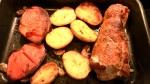 Allt i ett- Fläskytterfile med sötpotatis och potatis iugn
