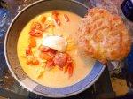 Crockpot- Fisksoppa med saffran, lime ochvitlök